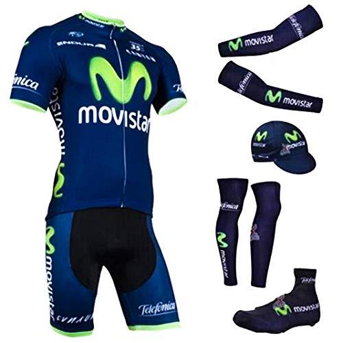 ZWPY Hombres Maillot Ciclismo Nuevo Verano,Jersey de Ciclismo,Mountain Bike/MTB Shirt,Maillots MTB Shirt, Transpirable Jersey de Bicicletas (6 Pcs),M