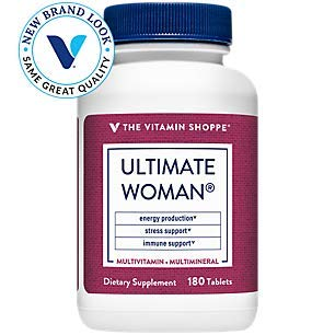 Ultimate Woman Multivitamin, High Potency Multi with Green Tea Extract – Energy Antioxidant Blend, Daily MultiMineral Supplement for Optimal Women's Health (180 Tablets) by The Vitamin Shoppe