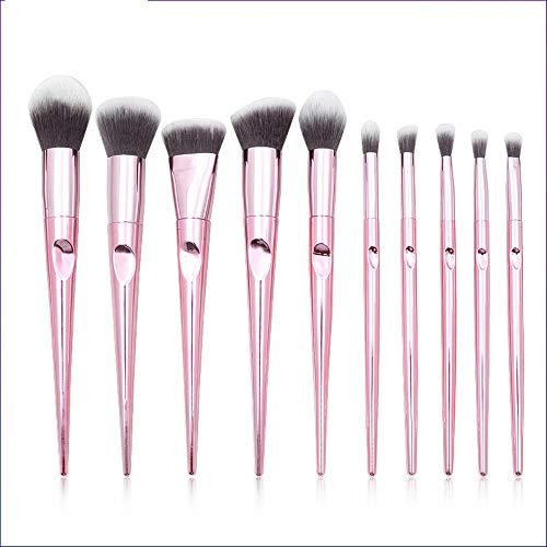 Pinceaux Maquillages Set De 10 Pinceaux De Maquillage Cone Empreinte Digitale Manche Pinceau Pour Les Yeux Maquillage Maquillage