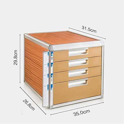 Archiefmap voor archiefkast met korte plank, om de veiligheid van het slot te garanderen, voor verschillende behoeften, goede assistent van hout, kleine schuifladen