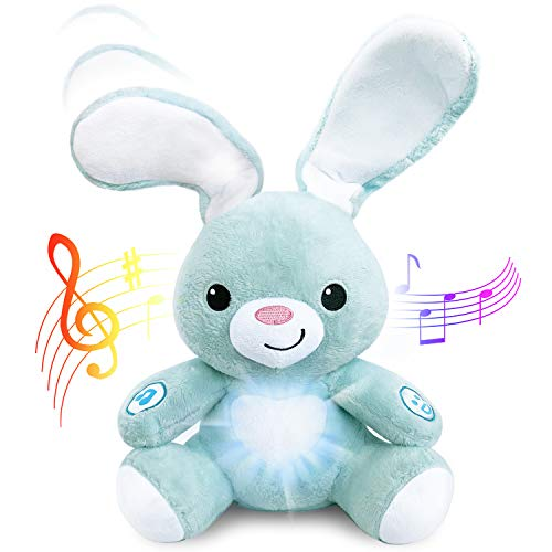 Stuffed Easter Bunny - Interactive Soft Stuffed Peekaboo Bunny Toy, 16 inches Tall Singing Animal Toy. for Ages 6 Months to 5 Year Old