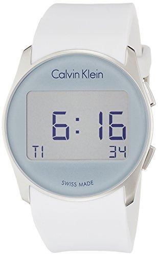 Calvin Klein Reloj Digital para Hombre de Cuarzo con Correa en Caucho K5B23UM6