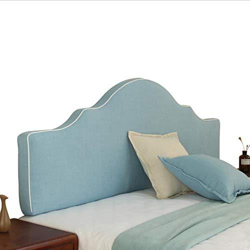 CHAXIA Hoofdbordkussen rugkussen zacht val, tweepersoonsbed, grote rug, anti-botsingshoofdkussen, afneembaar, wasbaar, 4 kleuren, 5 maten