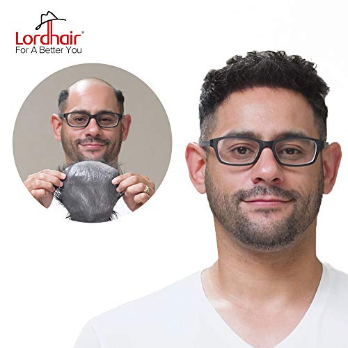 Lordhair Toupee with Human Hair Wigs for Men Hairstyle 0.03mm Ultra Thin Skin All V-looped Mens Hairpieces