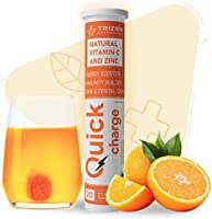 Trizen Quick Charge - Natural Vitamin C and Zinc, 60 effervescent Tablets, Orange Flavoured