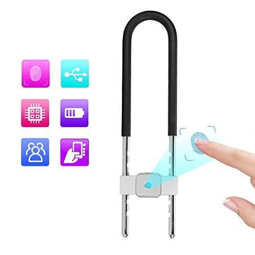 Smart U Lock, Antidiefstalbeveiliging Intelligente halfgeleider Biometrische vingerafdruk Bluetooth APP Control Hangslot voor deurkast Fiets Motorfiets
