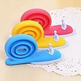 3 pezzi diversi colori lumaca a forma di animale in silicone porta fermaporta cuneo titolare per bambini protezione di sicurezza per bambini protezione per le dita