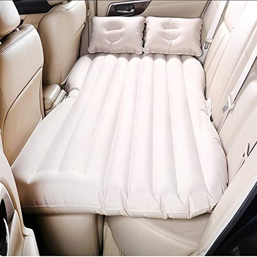 Protable Camping Car Air Lits Creative confortable gonflable Lit voiture Matelas arrière de voiture rangée Matelas de multi-fonction extérieure Voyage Air Bed (Color : Beige No Gear position)