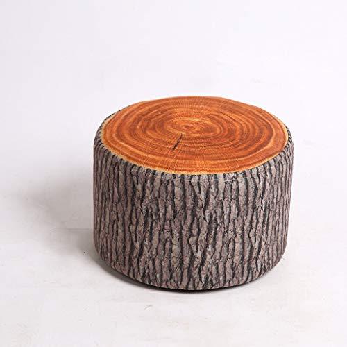 Moderne kruk van massief hout in minimalistische stijl, creatief, ronde kruk van stof, kruk voor slaapkamer, woonkamer en schoenen, kruk, salontafel, kleine bank