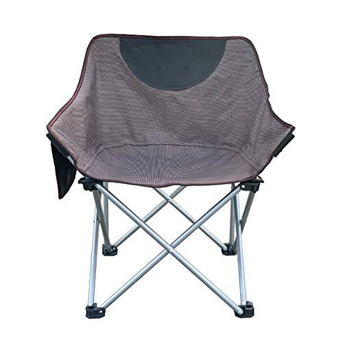Pliable Portable Camping Chaise De Lune,RNNTK Ultra-légères Compacte Chaise Pique-Nique Poids Lourd Cadre Charge 130kg,pour Randonnée Pêche Parc Milieu du Dos Chaise Plage Brun
