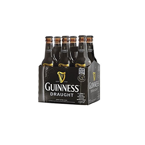 Guinness Draught Cerveza - Pack de 6 Botellas x 330 ml - Total: 3.6 L