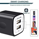 USB Wall Charger, Charger Adapter, Ailkin 2.4Amp Dual Port Foldable Quick Charger Plug Cube Replacement for iPhone 11/X/XR/XS MAS/8, Samsung Galaxy, LG, HTC, Huawei, Moto, Kindle 11 Premium Performance: Dual-USB output with total current 5V/2.1A and input with 100-240V enables you to charge two mobile devices simultaneously at high speed.It can really save your time. Safety assurance: AILKIN'S charger has protection system against over charging, over currents, and over heating. The charger will automatically stop charging when power is full, which can maximumly protect your device. Lightweight:Home charger adapter allows charging at home or in the office via USB cable connection. Simply plug in the USB cable, and plug the adapter into the wall. Compact, lightweight, portable, stylish, easy to store.