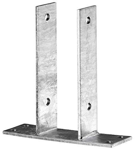 Pfostenträger U-Form zum aufschrauben zum aufdübeln Feuerverzinkt CE-Kennzeichen made in Germany Zaunpfosten 121 mm