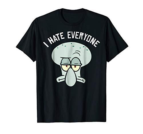SpongeBob SquarePants Squidward I Hate Everyone T-Shirt