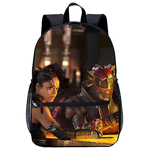 LGBCK Personalisierte Mode Kinderrucksack Thor: Ragnarok (2017) Valkyrie (Tessa Thompson) 3D-Schultaschen, Freizeit-Schultaschen für Kinder, bedruckte Schultaschen, geeignet für Jungen und Mädchen