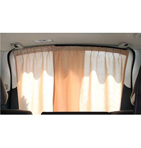 Auto zonnebrandcrème verduisteringsdoek, interieur zonnescherm multifunctionele auto gordijn rail montage zakelijke auto zonnescherm gordijn 2 stks