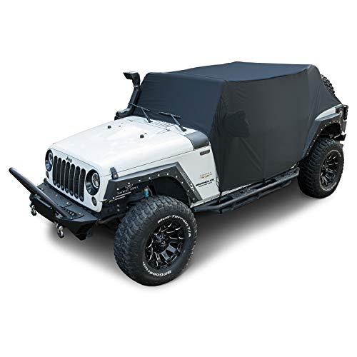Cab Cover 82215370 Car Cover for Jeep Wrangler JK JKU JL JLU 2007~2020 4-Door Black Oxford Sun Shade Car Cover Door Hard top Off 8104109