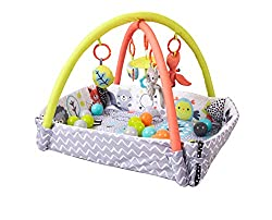 Suitable from birth Converts into a ball pool Includes balls and carry bag