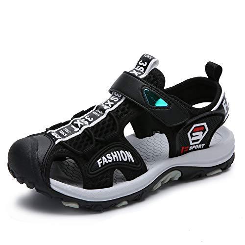 SAGUARO Sandalias para Niño Verano Casual Sandalias de Zapatillas de Trekking y Senderismo Sandalias de Playa Negro Gr.34