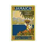 Jamaica - Placa decorativa de metal para decoración de pared