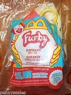 McDonalds 2000 Furby Plush Elephant Happy Meal Toy #1