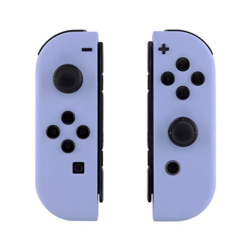 eXtremeRate Hülle Gehäuse Case Cover Schale Schutzhülle Tasche Kit für Nintendo Switch Joycon Controller mit vollständige Tasten(Hellviolett)-Keine Console Hülle