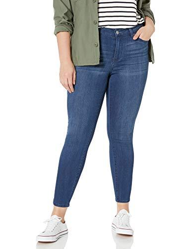 Celebrity Pink Jeans Women's Plus Size Infinite Stretch Mid Rise Skinny Jeans, Vintage Dark, 18W