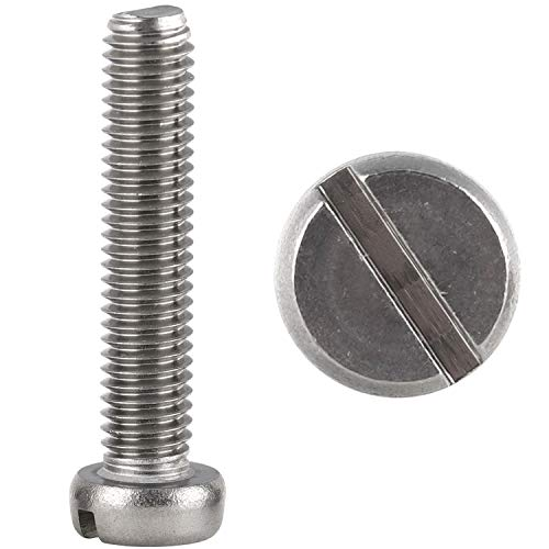 FASTON Tornillos cilíndricos con ranura M5 x 30 mm, DIN 84, de acero inoxidable A2 V2A (500 unidades)