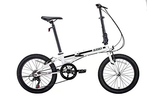 Sale!! ZiZZO EuroMini Ferro 20″ 29 lbs Light Weight Folding Bike (White)