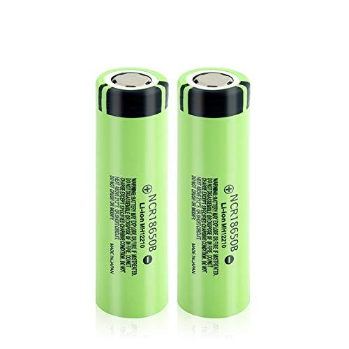 softpoint Batería De ión De Litio Real Ncr18650b, Batería De Iones De Litio Recargable De 3.7v 3400mah Pilas 2Pcs