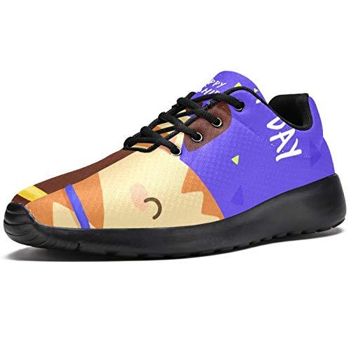 Zapatillas deportivas para correr para mujer, grúas, crisantemos, japoneses, tradicionales, rojas, de malla, transpirables, para caminar, senderismo, tenis, color, talla 40 EU