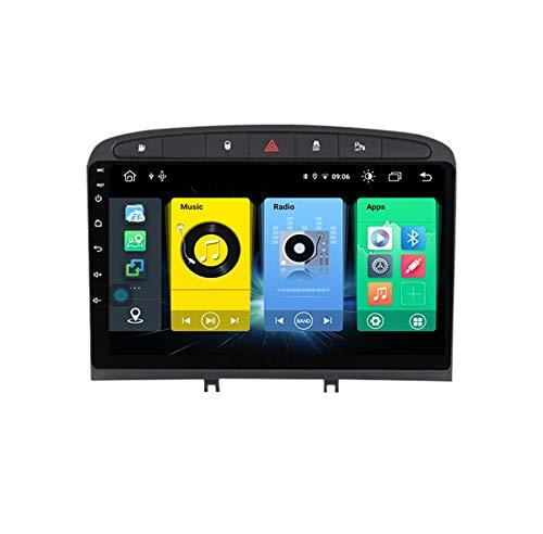 HARBERIDE Android Car Stereo Radio De Coche 9 Pulgadas Unidad Principal Reproductor Multimedia Receptor De Video Carplay para Peugeot 408 308 308S 2012-2020 Autoradio Mit Navi,C150