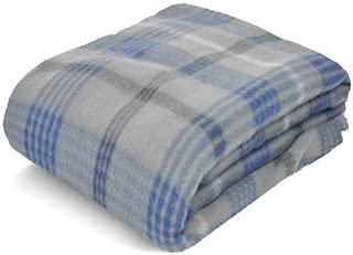 Fleece Blanket Grey Plaid, 50