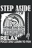 Ir a la página relajarse y aprender a pescar: Papel alineado portátil con 120 páginas en formato 15 x 22, 86 cm