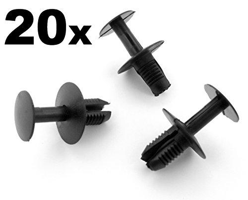 Preisvergleich Produktbild 20x Plastik Nieten - Stoßstangen Clips,  Verkleidung,  Seite Skirts,  Bogen (23099000929C75 / 201-990 -02-92)