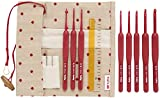 Tulip Etimo Red Crochet Hook W/Cushion Grip Set-