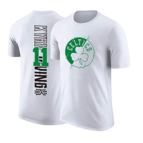 YZQ Uniformes De Baloncesto para Hombre, Boston Celtics # 11 Kyrie Irving NBA Camisetas Casas Y Cómodas Chalecos De Baloncesto Jerseys,Blanco,L(170~175CM)