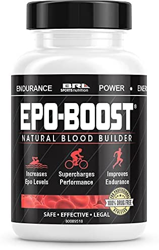 EPO-BOOST Natural Blood Builder Sports Supplement. RBC Booster with Echinacea & Dandelion Root for Increased VO2 Max, Energy, Endurance (1-Pack)