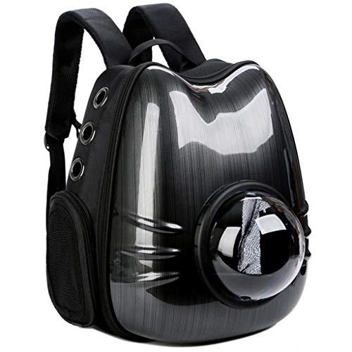 TOMSSL Haustierrucksack, Raumkapsel tragbare Haustier Tasche, große Tasche atmungsaktive Haustier Tasche tragbares Haustier Zelt komfortable geräumige Reise Wandern Camping, schwarz