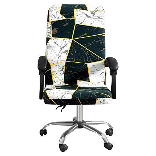 GFFGA M/L Fundas elásticas para sillas con geometría extraíble Anti-Sucio Estiramiento Giratorio Oficina Comter Asiento de Escritorio Funda para Silla Protector de sillón