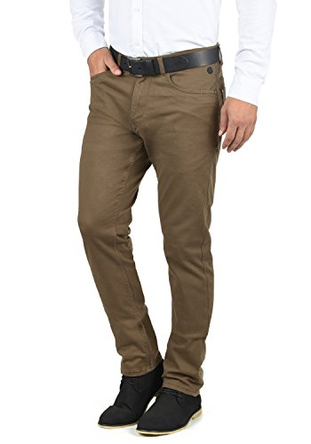 Blend Saturn Herren Chino Hose Stoffhose Aus Stretch-Material Slim Fit, Größe:W33/34, Farbe:Mocca Brown (71508)