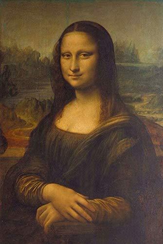 DOUBLETOP 1000 piezas de cartón de Mona Lisa para adultos divertidos, inteligencia, rompecabezas, dormitorios, habitaciones, decoración, marco de foto, para padres e hijos, para regalo de cumpleaños