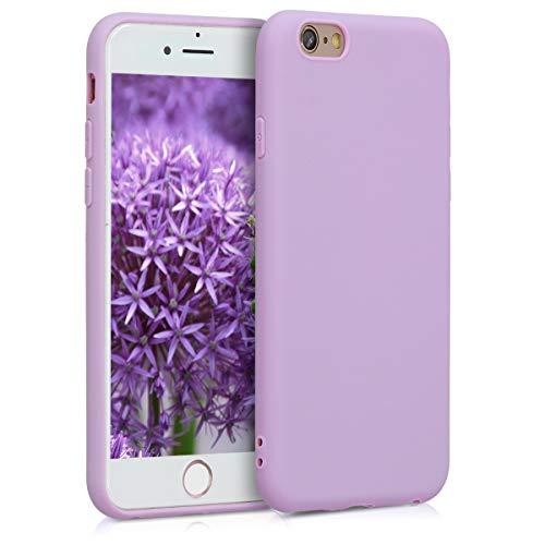 kwmobile Coque Compatible avec Apple iPhone 6 / 6S - Housse de téléphone Protection Souple en Silicone - Mauve Pastel