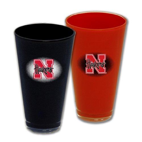 NCAA Nebraska Cornhuskers 20-Ounce Home and Away Acrylic Tumbler Set