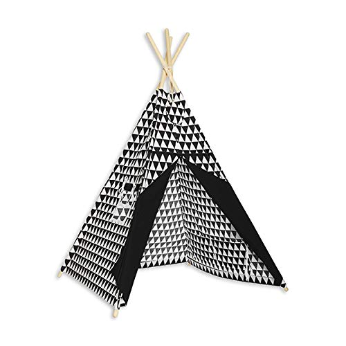 Fun with mum TEE-Ten-BLA-WHI Teepee Tent Black & White
