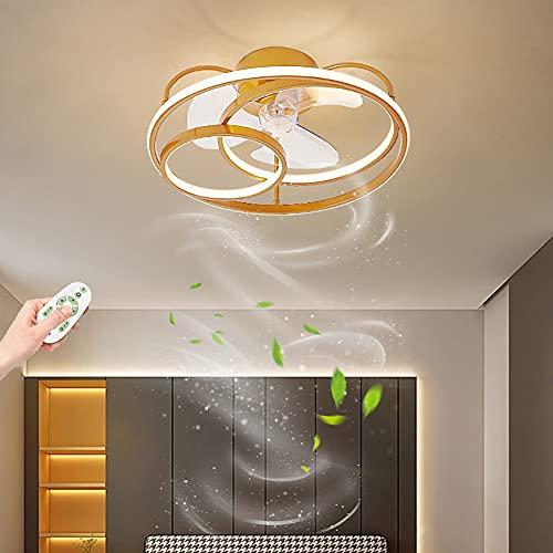 ZBYL Ventilador De Lámpara con Mando a Distancia LED Ventilador De Techo con luz Mando silencioso Regulable Ventilador de Iluminación 3 Velocidades De Viento para Salón Dormitorio Cocina