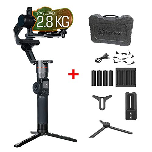 FeiyuTech AK2000 3-Axis Gimbal Stabilizer 2.8kg playload for Sony Canon 5D Panasonic GH5 GH5S Nikon D850 Mirrorless & DSLR Digital Camera Smart Touch Panel WiFi Bluetooth Connection +Tripod Stand