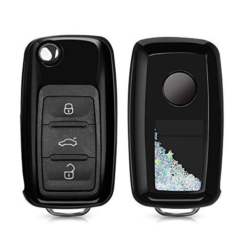 kwmobile Funda Compatible con VW Skoda Seat Llave de Coche de 3 Botones - Carcasa Protectora Suave d