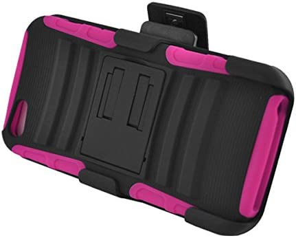 Z-GEN - for Apple iPhone SE, iPhone 5, iPhone 5S - Hybrid Case w/Stand/Belt Clip Holster + PET Film Screen Protector - CV2 Hot Pink