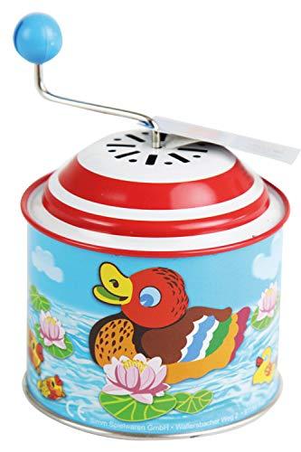Bolz Boîte à musique Petit canard Orgel - pour enfants à partir de 18 mois - 10,5 x 7,5 cm - Multicolore - 52761 - version allemande